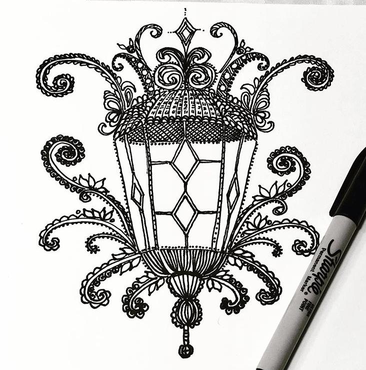 Lantern in Ink