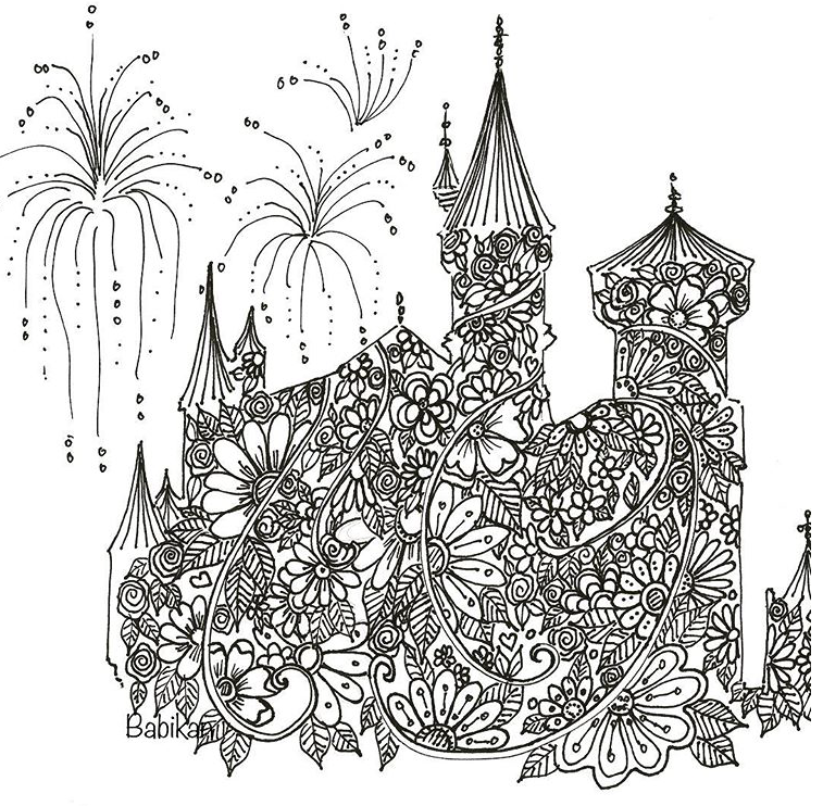 Castle Zentangle