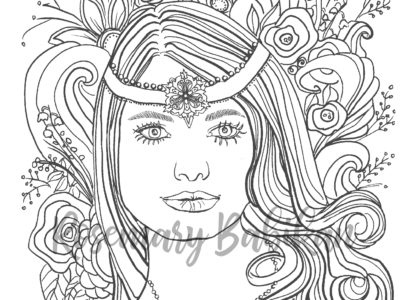 Adult Coloring Pretty Faces, Nikki